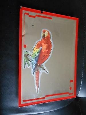 1940s -50s Pocatello Idaho Advertising Mirror Parrot Ward's Dairy Art Deco