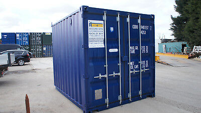 £2000+vat NEW BLUE 10x8 10ft Steel Storage Shipping Container Store Hire Or Sale