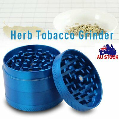 Zinc Alloy Hand Crank Herb Mill Crusher 4 -Piece Tobacco Smoke Grinder 40*35mm
