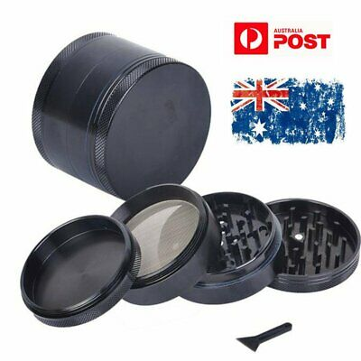 4-Layers Zinc Alloy Black Tobacco Herb Grinder Metal Hand Muller Smoke Crusher