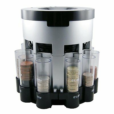 Automatic Coin Box Sorter Counter Loose Change Cash Tube Count Money Organiser