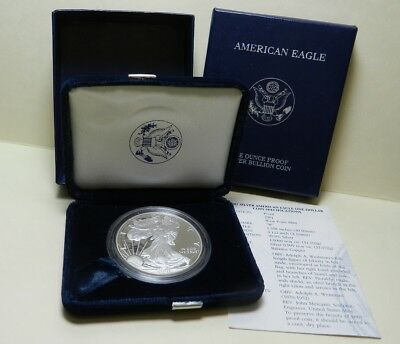 2003 Proof American Silver Eagle  Dollar  with Box and COA
