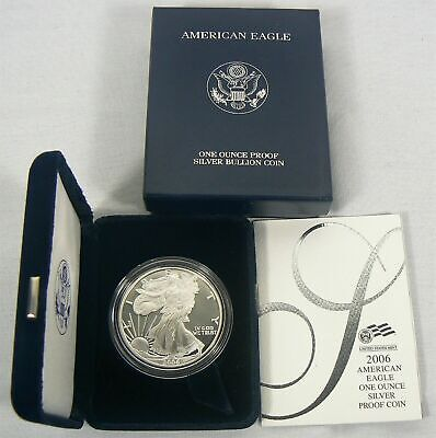 2005 Proof American Silver Eagle  Dollar  with Box and COA