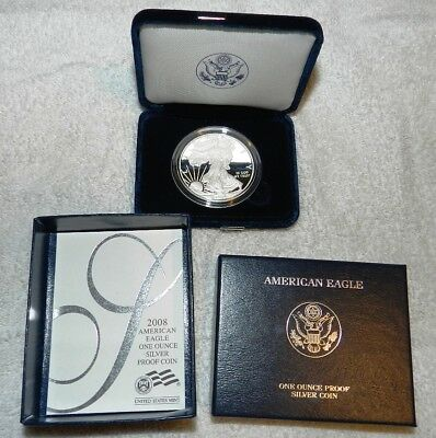 2006 Proof American Silver Eagle  Dollar  with Box and COA