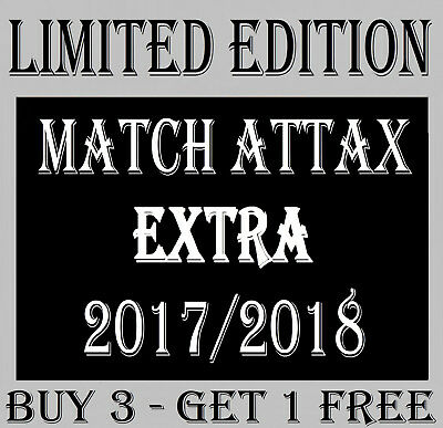 Match Attax EXTRA 2017/18 LIMITED EDITION GOLD / SILVER / BRONZE