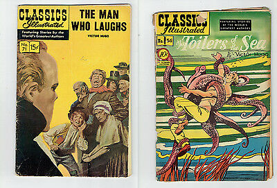 Classics Illustrated  - 1st edition -  #56 & #71 - FREE SHIPPING