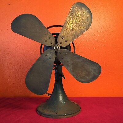 "Antique 1920s GE Oscillating 16"" FAN AOU AK1 75425 Industrial steam punk parts"
