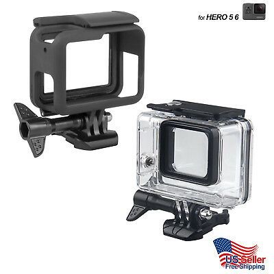 GoPro Hero 3 3+ 4 5 6 Underwater Waterproof Dive Housing Transparent Frame Cover