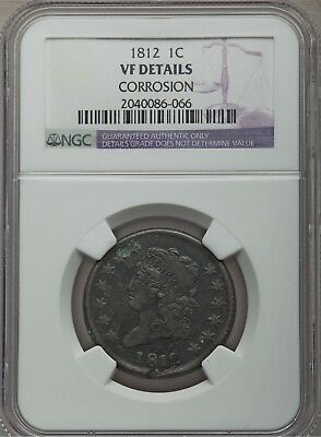 1812 1C Classic Head Large Cent NGC VF Details #2040086-066 Great Details!!!
