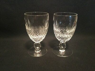 2 Waterford Crystal Colleen Claret Wine Stems 4 3/4""