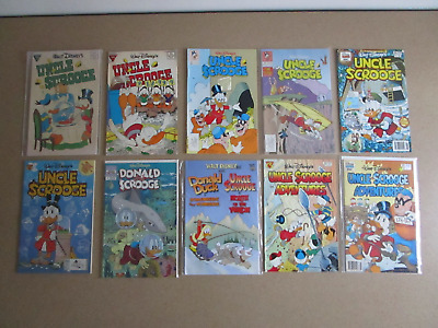 Uncle Scrooge Lot of 10 #227 237 252 259 281 300 Plus Donald & Scrooge