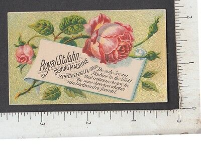 9517 D. W. Letters Webster, MA trade card Royal St. John Sewing Machine photo