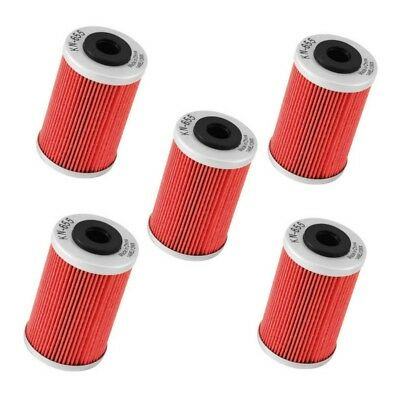 5-pack of K&N oil filter filters for KTM 450EXC-F 2012-2014 KN-655 x 5