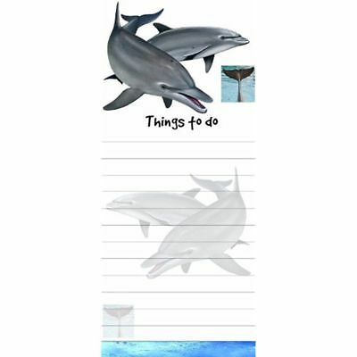 DOLPHIN MAGNETIC GROCERY LIST PAD STICKY NOTES MAGNET Refrigerator