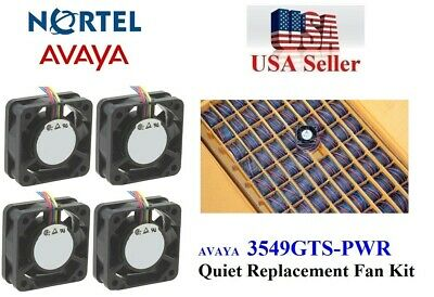 Set of 4x quiet version fans for Avaya Ethernet Routing Switch 3549GTS-PWR+