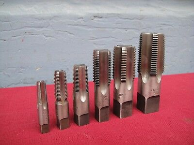 6pc NPT Tap GREENFIELD,WINTER BROS,P &W 1/8'',1/4,3/8,1/2,3/4'',1'' Made In USA