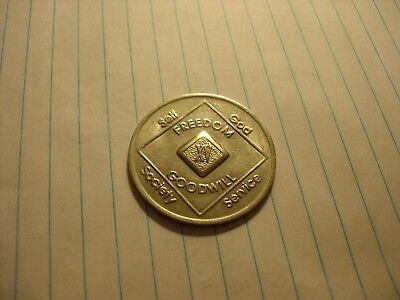 Narcotics Anonymous Vintage Fifteen Year Medallion