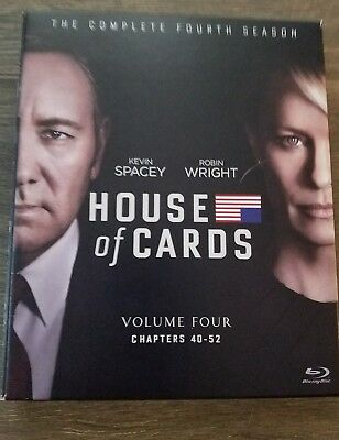 House of Cards: The Complete Fourth Season (Blu-ray Disc, 2016, 4-Disc Set)