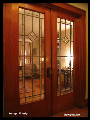 Heritage Doors Genuine  Lead glass Handcrafted Panels in Frame