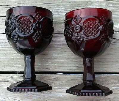 Avon Cape Cod Ruby Water Goblets Set of 2