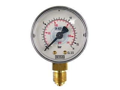 """Vertical Manometer WIKA for Vacuum and Pressure Class 2.5 G1/8 """" G1/4 """" G1/"""