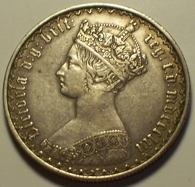 Great Britain, 1853 Victoria Florin, Two Shillings 2 Shillings. 3,920,000 Minted