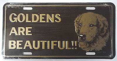 Golden Retriever License Plate Metal Vintage 1978