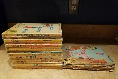 Dr. Seuss Vintage Hardcover Books Lot 2 Book Club Bright & Early Beginner PHOTOS