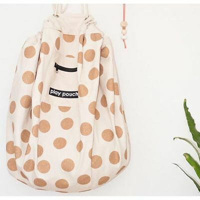 Glitter Gold Dots Printed Toy Storage Bag And Play Mat Activity Mat