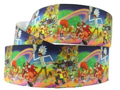 """PAC-MAN Arcade Game Characters 1/"""" Wide Repeat Ribbon Sold in Yard Lots"""
