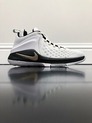 Nike Zoom Witness Lebron King James Finals Colorway White Gold 860272-102  5Y 6Y 5bba98cf6