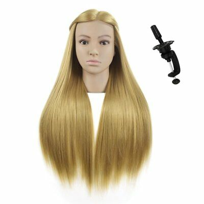 """26""""-28""""Synthetic Hair Mannequin Head For Hairdresser Dummy Doll Head Training He"""