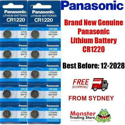 10 x CR1220 3V LITHIUM BUTTON COIN BATTERY BRAND NEW GENUINE EXPIRES: 12/2028