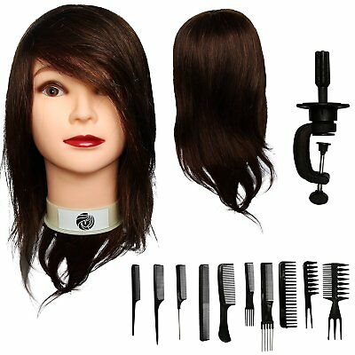 """Aestus 18"""" Mannequin Head 100% Human Hair 