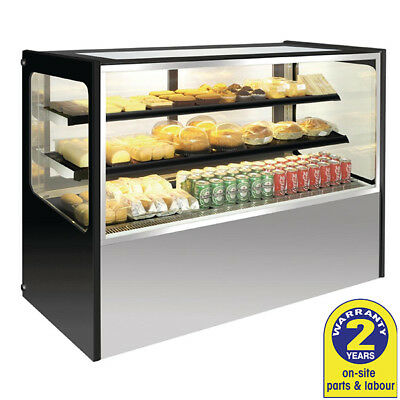 Cake Display Fridge 1800x715x1200mm Patisserie Cakes Refrigerated Cabinet Polar