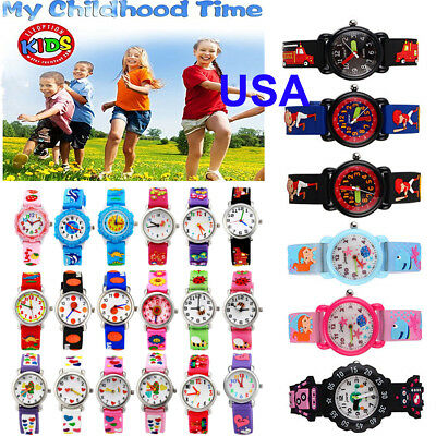 31 Patterns 3D Cartoon Waterproof Wrist Watch For Kids Boys Girls Rubber Analog
