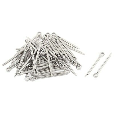 M1.2x16mm 304 Stainless Steel Split Cotter Pins Silver Tone 50pcs R2A4