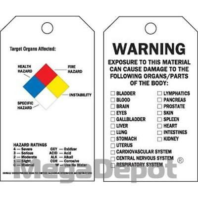Brady 76203, RTK ACCIDENT PREVENTION TAGS W/OVERLAM