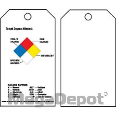 Brady 76225, RTK ACCIDENT PREVENTION TAGS W/OVERLAM