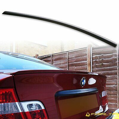 FYRALIP For BMW E46 Rear Trunk lip spoiler Sedan Unpainted Matte Black