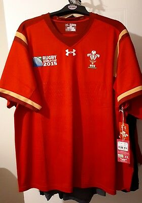 Wales World Cup 2015 Rugby Shirt 2XL  New
