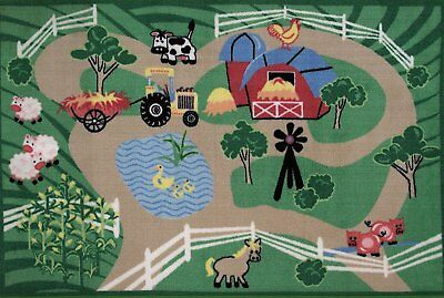 Fun Rugs FTQ-223 3958 Farm Roads Accent Rug, 39-Inch by 58-Inch