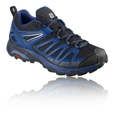 Salomon Mens X Ultra 3 Prime Walking Shoe Black Blue Sports Breathable Trainers
