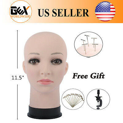 GEX Female Makeup Head Wig Making Mannequin Head Fresh Color Wigs&Hats Display