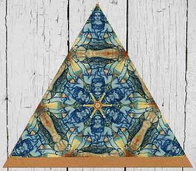 blotter art :: SHIVA MEDITATING TRIANGULAR ::   // FREE WORLDWIDE SHIPPING!! //