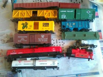HO FREIGHT X9 and oo loco as parts motor goes