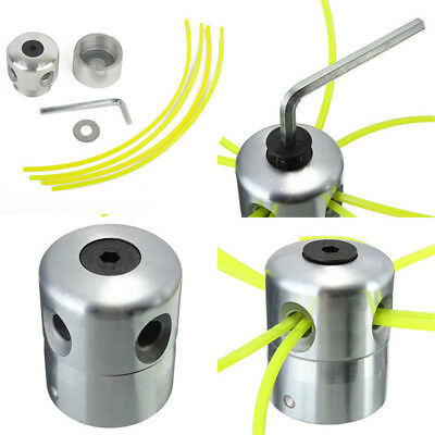 2x Trimmer Head Aluminium Strimmer Double Bobbin Set for Gasoline Brush cutter