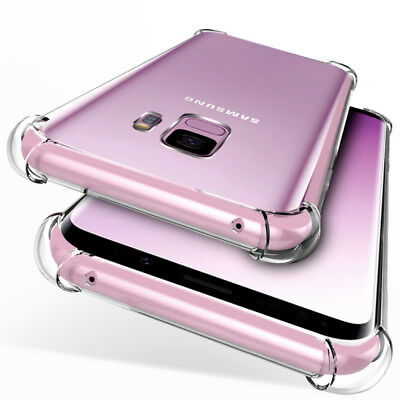 F Samsung Galaxy S9 Plus / S8 Hybrid Soft TPU Shockproof Bumper Clear Case Cover