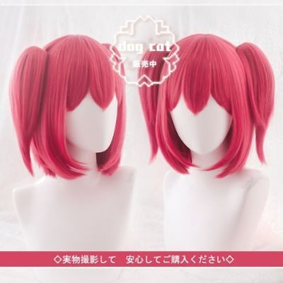 Love Live! Sunshine!! Aqours Kurosawa Ruby Short Anime Cosplay wig +ponytails