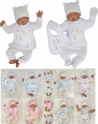 NEW! 8 Piece Set Baby Starterset First Outfit Romper 50 56 62 68 englandmode
